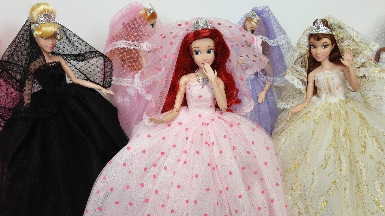 Princess Elsa Anna Dress Barbie Doll Wedding Boneca Vestido E Roupas