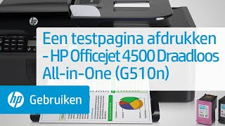 Een testpagina afdrukken - HP Officejet 4500 Draadloos All-in-One (G510n)