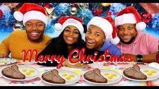 Christmas Ribeye Steak and Eggs