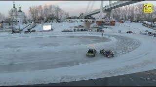 Парный супер дрифт на льду