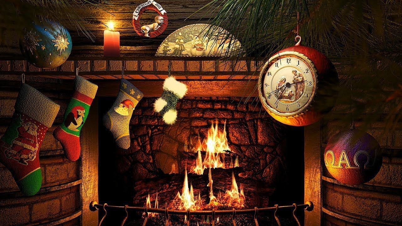 Christmas Fireplace Screensaver 4K UHD