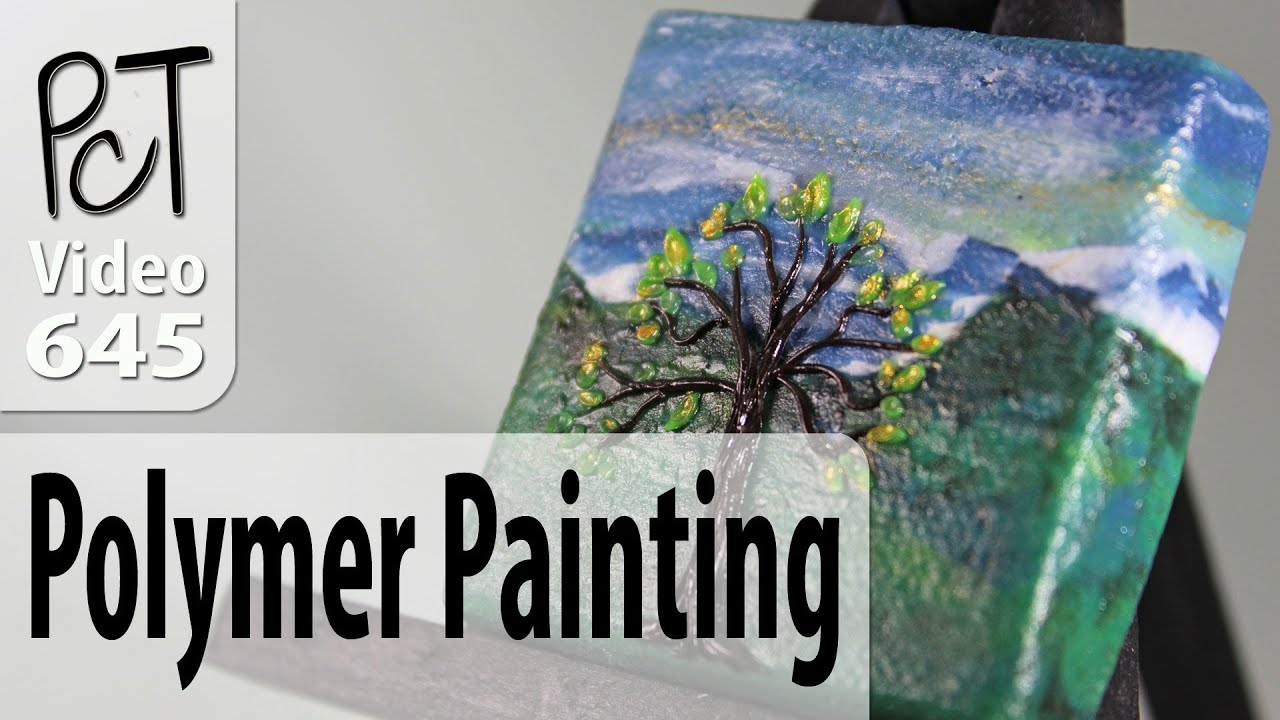 Polymer clay landscape painting tutorial intro vol 083 for Clay mural tutorial