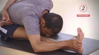 Yoga Tutorial: Seated Half Lotus Forward Bend