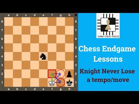 Chess Endgames in Hindi | Knight Never lose a tempo / move