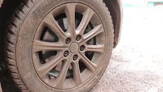 Как открутить прикипевшую гайку колеса...