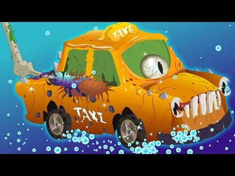 taxi car wash | Halloween | scary videos for kids | Car Wash videos