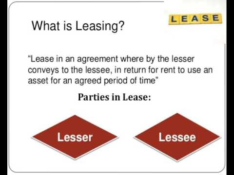 A lease is a contractual arrangement calling for the lessee user to pay the lessor owner for use of