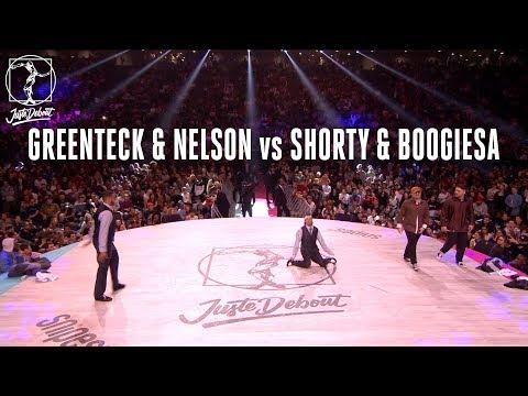 Popping battle quarter final : Greenteck & Nelson vs Shorty & Boogiesa