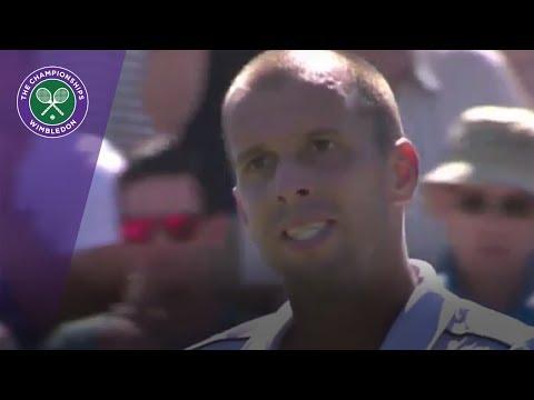 Wimbledon 2017 - Giles Muller celebrates marathon win over Rosol