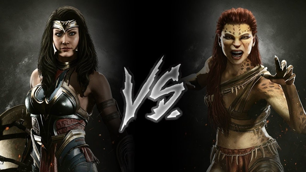 Injustice 2 - Wonder Woman Vs. Cheetah (VERY HARD) - YouTube