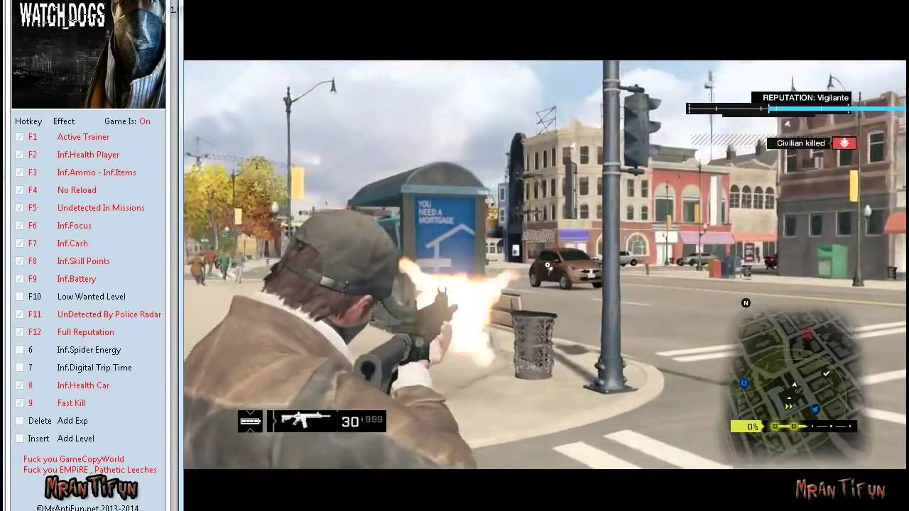 Watch Dogs Trainer V