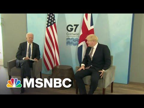 Biden Kicks Off First Overseas Trip With Boris Johnson Meeting
