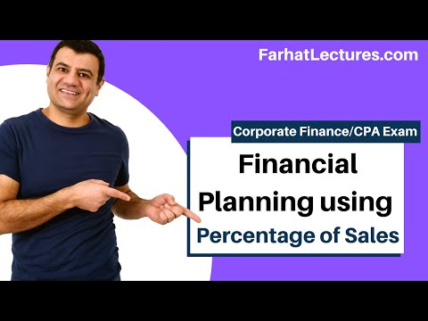 Financial modeling planning the percentage sale approach corporate finance ch 4 p 2