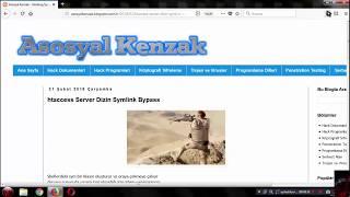 htaccess Server Dizin Symlink Bypass