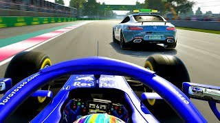 F1 2019 CAREER MODE Part 61: THE CRAZIEST SUPER RARE EVENT MID-RACE!!!