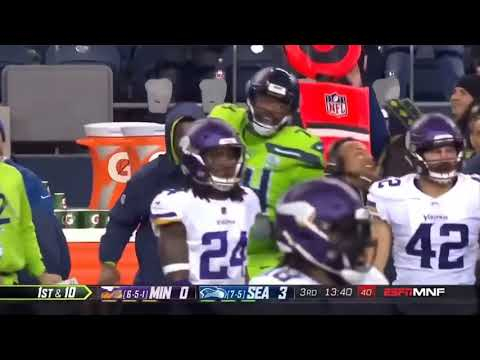George Fant falls during his 1st career catch and Booger McFarland dies of laughter