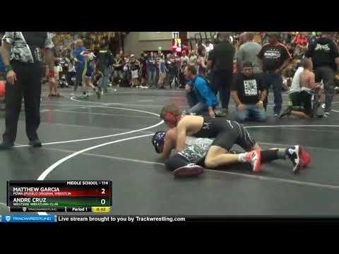 Middle School 114 Matthew Garcia Powa (Pueblo Original Wrestlin Vs Andre Cruz Westside Wrestling C