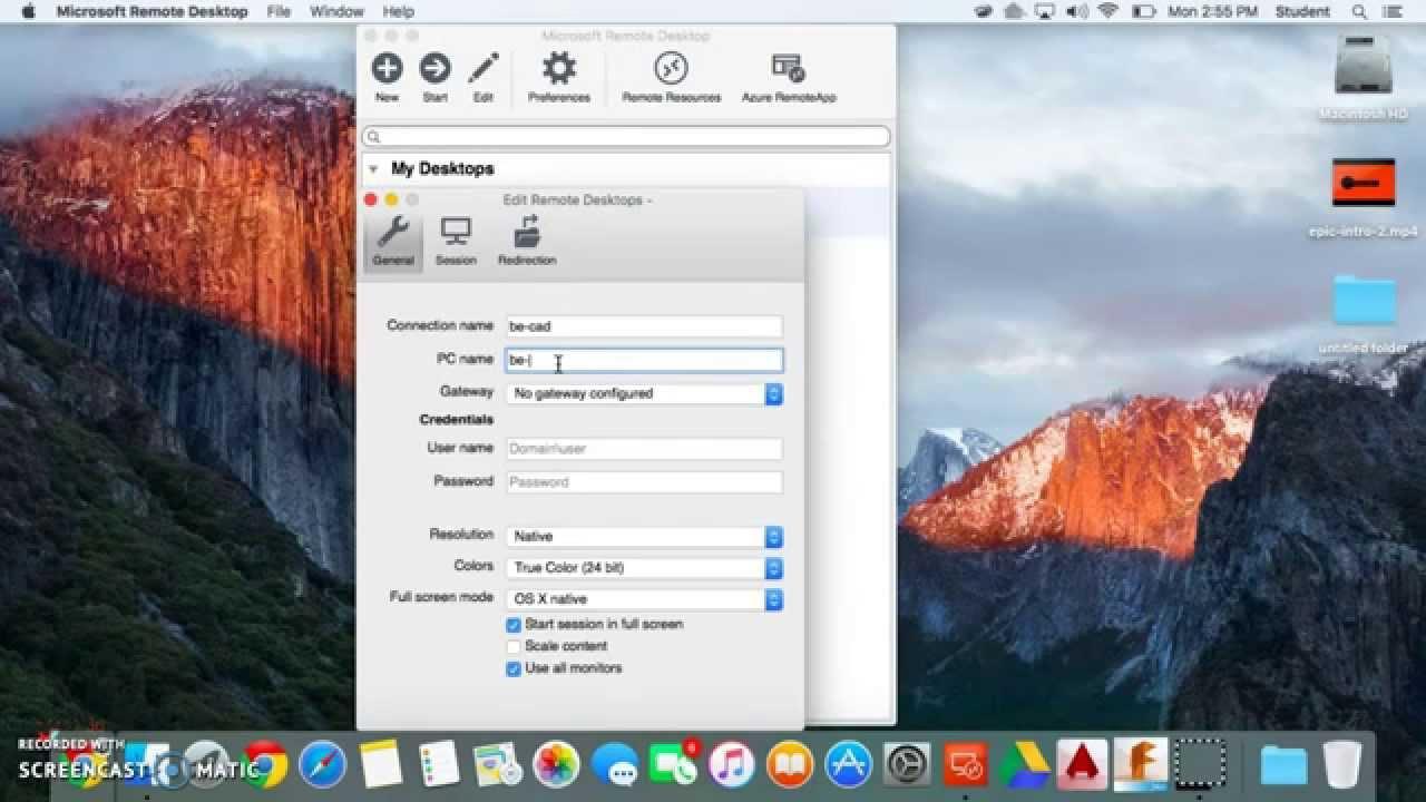 Using REVIT on Macbook