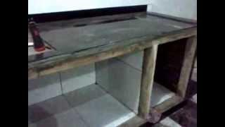 Cara membuat meja dapur