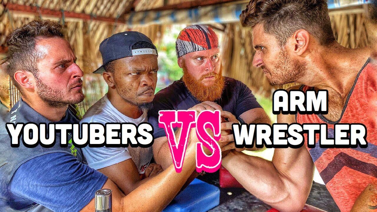Arm Wrestlers VS Youtubers! (Featuring Phúc Mập Vlog, AfroViet TV, Ngữ Wave)
