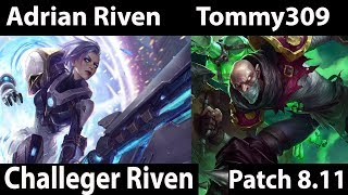 [ Adrian Riven  ] Riven vs Singed [ Tommy309 ] Top  - Adrian Riven Comback Stream