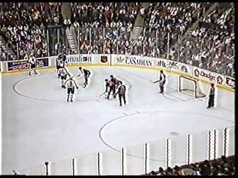 NHL All Star Game - 1990 (Part 2 of 7) - Swedish commentators