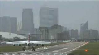 extreme hard landing bae 146 london city