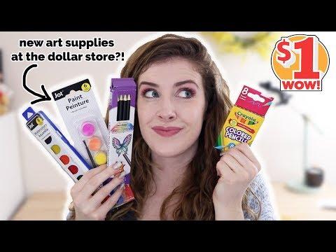 Testing NEW $1 Dollar Store ART SUPPLIES!