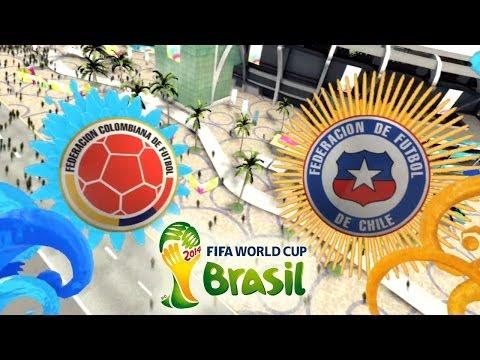 FIFA 2014 World Cup Brazil: Colombia vs Chile
