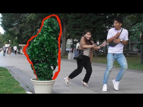 BUSHMAN Prank Japanese Reactions!! On a sunny day Part1