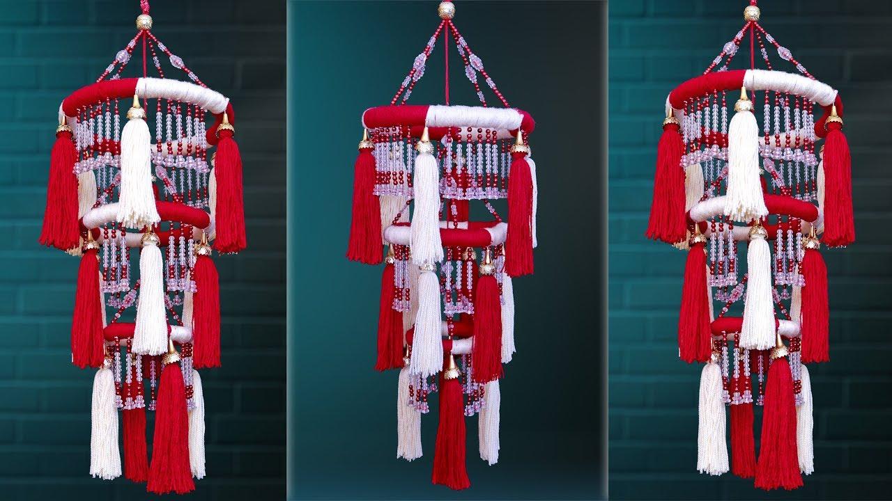 DIY Woolen Wall Hanging Craft || Beautiful Home Decoration ...