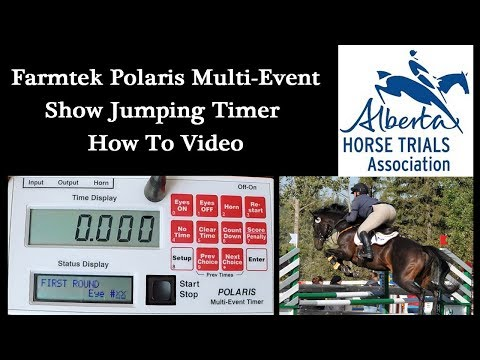 How To Use AHTA Show Jumping Timers - Video Tutorial - Polaris Electronic Timing System