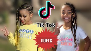 Cali from THE RUSH FAM and Tiana from THE NEV FAM TikTok Duet Compilation