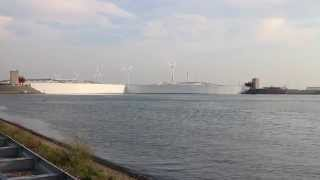 Closing of the Maeslantkering, The Netherlands, Hoek van Holland