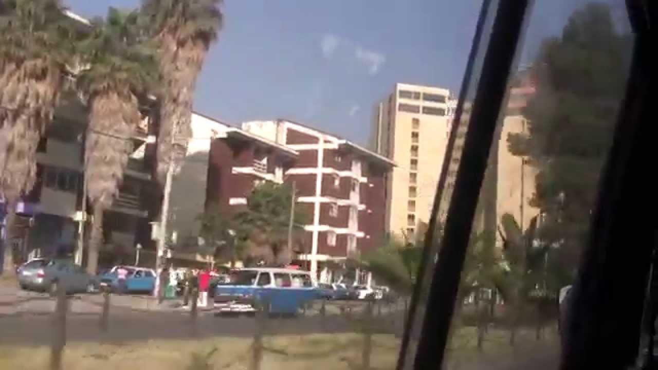 Ethiopia: Addis Ababa, Airport to Piassa 1 by mini Bus, 2012