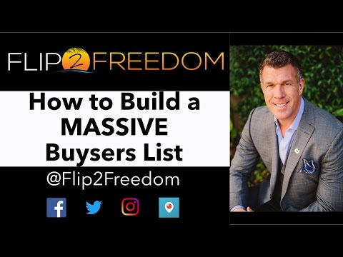 How to Build a MASSIVE Buyers List Using 3 UNIQUE Strategies to Sell Wholesale Properties FAST!
