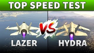 GTA 5 Lazer vs Hydra Speed Test | WHICH HAS THE BEST TOP SPEED? (GTA 5 Online)