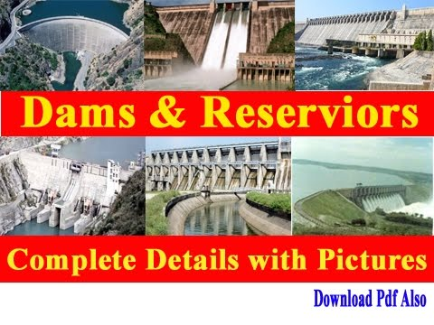 Important Dams & Reservoirs In India