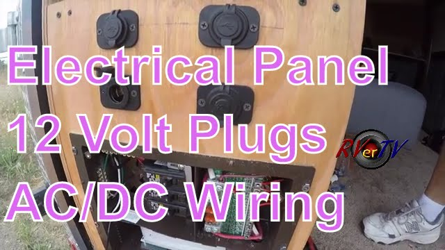 cargo trailer conversionelectrical wiring12 volt plugsac/dc power  panelrvertv