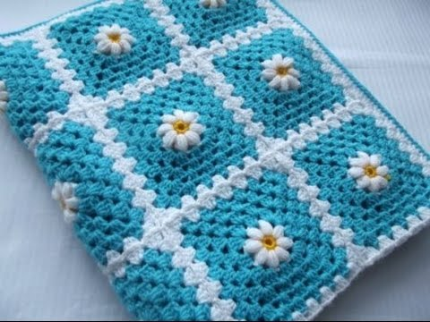 Youtube Crocheting Baby Blanket : VERY EASY Crochet Baby Blanket For Beginners - YouTube