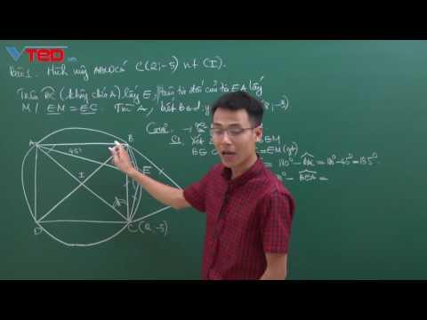CGV   001- Tuyển chọn Hình học giải tích trong mặt phẳng Oxy từ các đề thi
