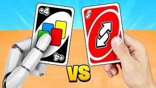 Can WE BEAT A Robot In UNO? (impossible)
