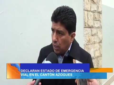 Emergencia vial fue declarada para el cantón Azogues