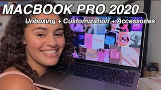 2020 MacBook Pro 13 in UNBOXING | Customization + Accessories