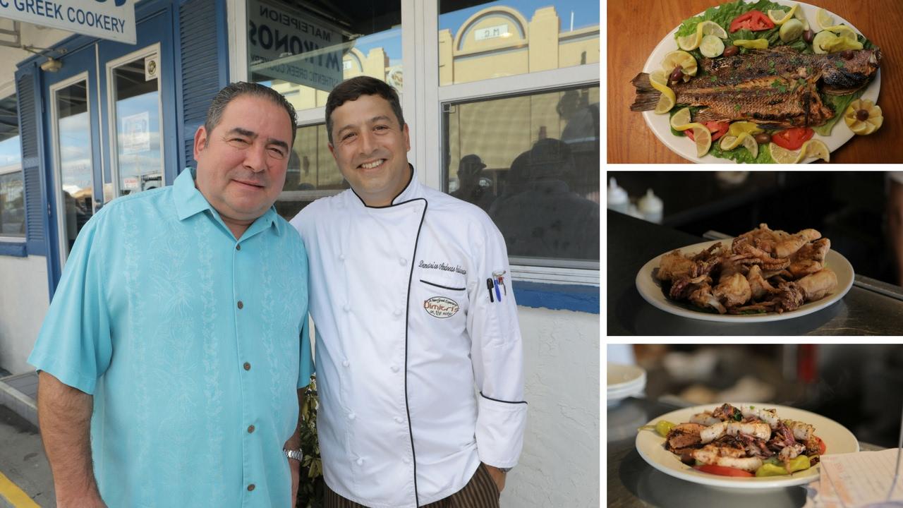 Florida Travel Emeril Lage Visits Mykonos Greek Restaurant Tarpon Springs