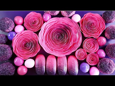 Clay Cracking 💜 Crushing Soap Roses And Soap Balls 💕Carving ASMR ! Relaxing Sounds !