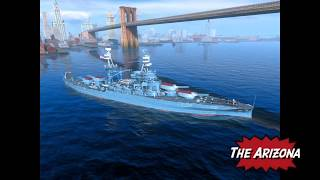 Arizona USN Battleship Review for World of Warships Blitz