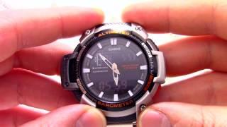 Годинник Casio Outgear SGW-450HD-1B [SGW-450HD-1BER] - Інструкція, як налаштувати від PresidentWatches.Ru