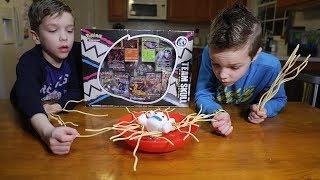 Twin vs Twin:  Yeti in my Spaghetti! Family Fun Game for Kids!