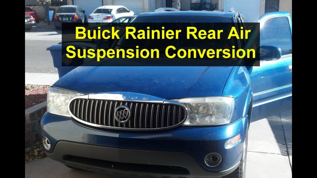 small resolution of suspension conversion bad rear air suspension leaking air buick rainier votd